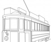 Coloriage Tramway maternelle