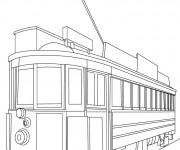 Coloriage et dessins gratuit Tramway maternelle à imprimer
