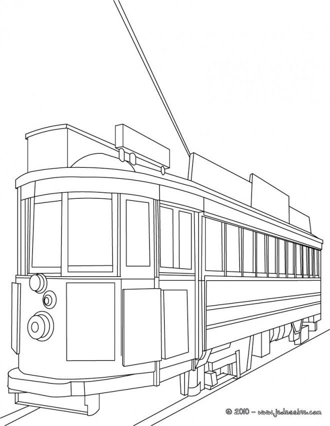 Coloriage et dessins gratuits Tramway maternelle à imprimer