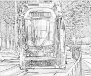 Coloriage Tramway réaliste