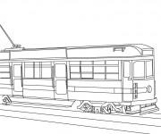 Coloriage Tramway stylisé