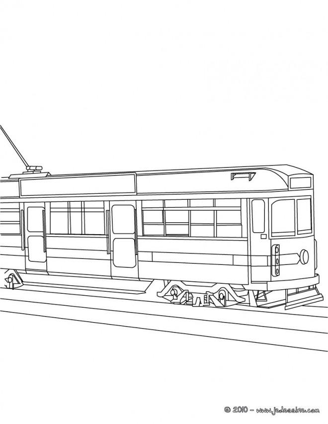Coloriage et dessins gratuits Tramway stylisé à imprimer