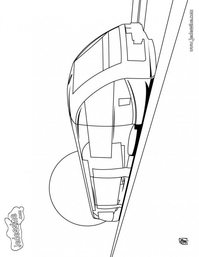 Coloriage et dessins gratuits Tramway sur le chemin à imprimer