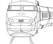 Coloriage et dessins gratuit Tramway vue frontale à imprimer