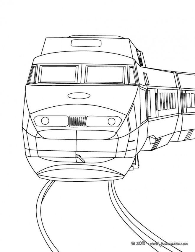 Coloriage et dessins gratuits Tramway vue frontale à imprimer