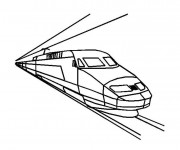Coloriage et dessins gratuit Un Train rapide à imprimer
