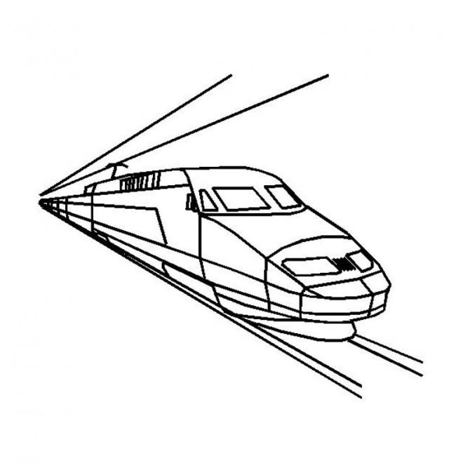 Coloriage un train rapide dessin gratuit imprimer - Dessin de train a imprimer ...