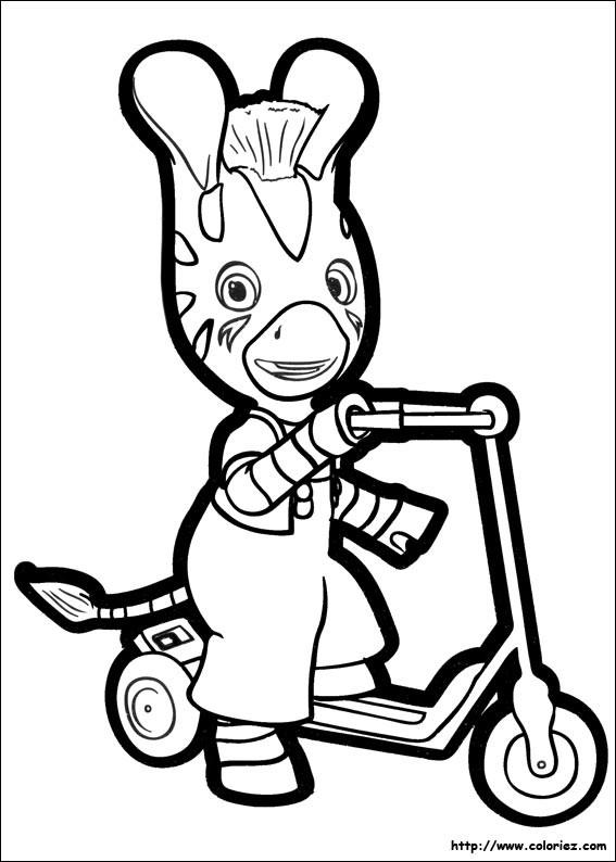 Coloriage et dessins gratuits Âne sur La Trottinette Disney à imprimer