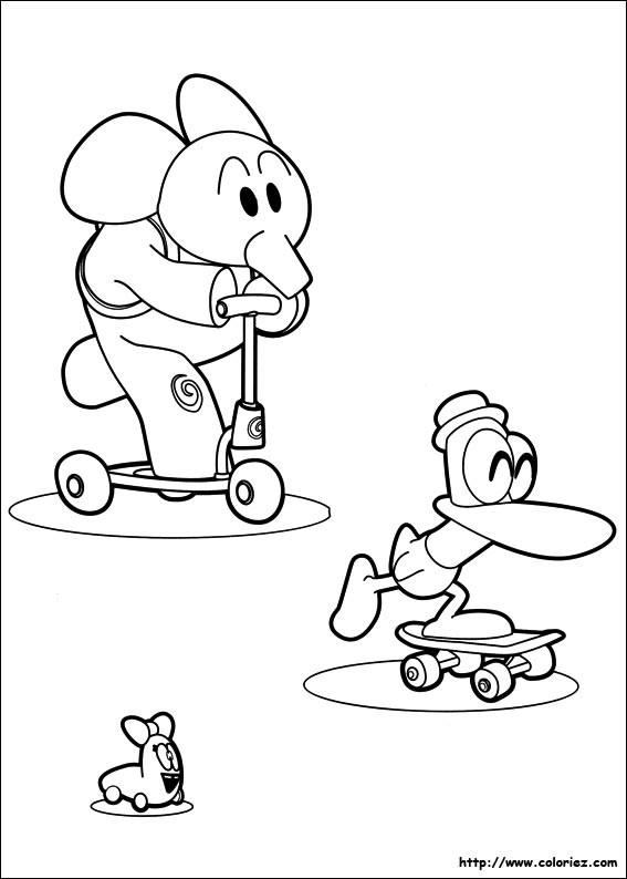 Coloriage et dessins gratuits Illustration Trottinette pour s'amuser à imprimer