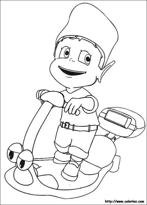 Coloriage et dessins gratuits Petit Garçon sur Scooter jouet à imprimer