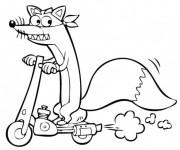 Coloriage et dessins gratuit Renard rigolo sur La Trottinette à imprimer