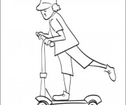 Coloriage Scooter 28
