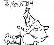 Coloriage et dessins gratuit Trottinette Corneil et Bernie à imprimer