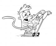Coloriage et dessins gratuit Trottinette Dessin Animé à imprimer