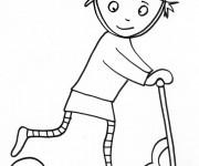 Coloriage et dessins gratuit Trottinette Freestyle à imprimer