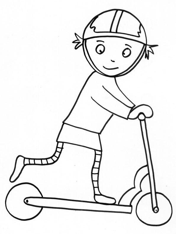 Coloriage et dessins gratuits Trottinette Freestyle à imprimer