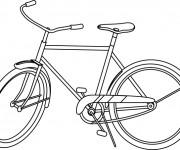 Coloriage Bicyclette à découper