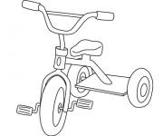 Coloriage et dessins gratuit Bicyclette d'enfant à imprimer