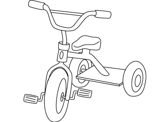 Coloriage bicyclette d 39 enfant dessin gratuit imprimer - Velo a dessiner ...