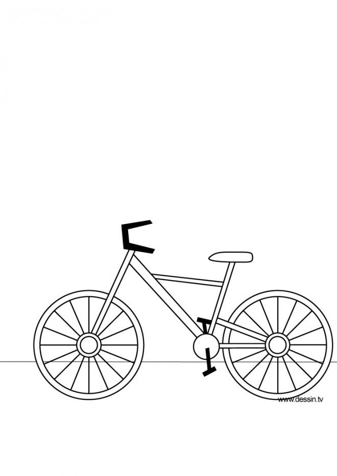Coloriage et dessins gratuits Bicyclette en ligne à imprimer