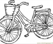 Coloriage Bicyclette en noir et blanc