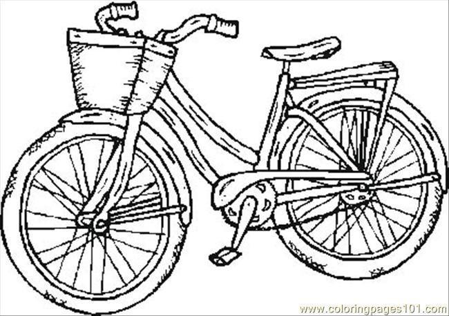 Coloriage et dessins gratuits Bicyclette en noir et blanc à imprimer