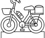 Coloriage Bicyclette en vecteur pour enfant