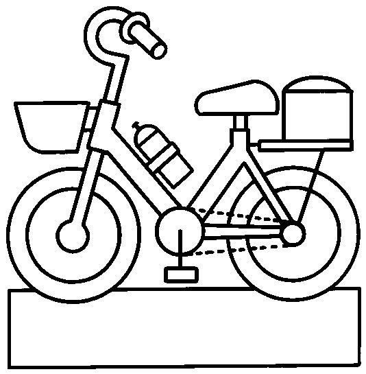 Coloriage et dessins gratuits Bicyclette en vecteur pour enfant à imprimer