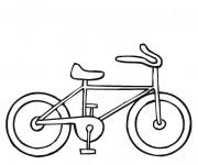 Coloriage Bicyclette facile