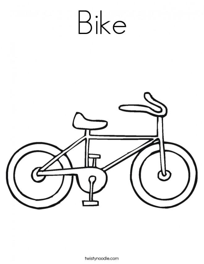Coloriage et dessins gratuits Bicyclette facile à imprimer