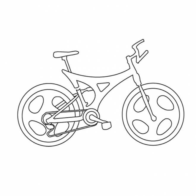 Coloriage et dessins gratuits bicyclette facile avec style à imprimer