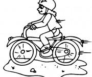 Coloriage Bicyclette rapide