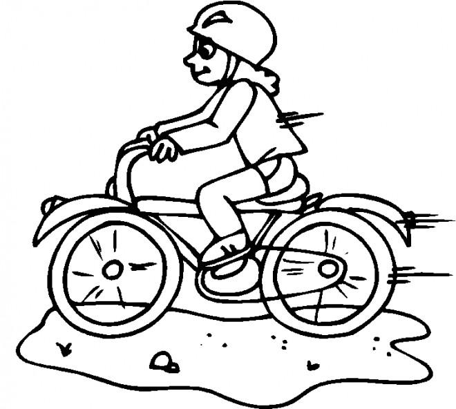 Coloriage et dessins gratuits Bicyclette rapide à imprimer