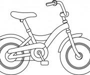Coloriage Bicyclette stylisé