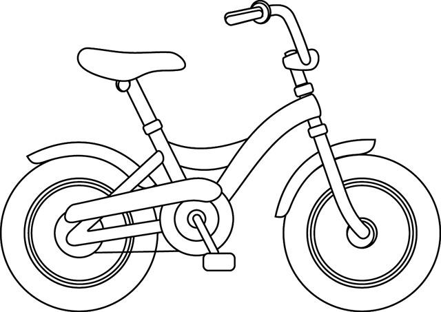 Coloriage bicyclette stylis dessin gratuit imprimer - Dessin velo vtt ...