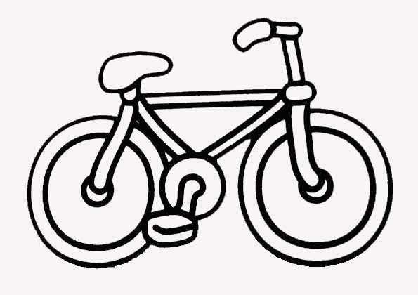 Coloriage bicyclette vectoriel dessin gratuit imprimer - Dessin velo vtt ...