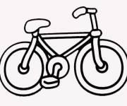 Coloriage Bicyclette vectoriel à colorier