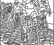 Coloriage et dessins gratuit Cyclisme course à imprimer