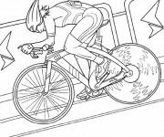 Coloriage et dessins gratuit Cyclisme de salle à imprimer
