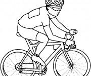 Coloriage et dessins gratuit Cyclisme en couleur à imprimer