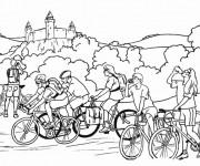 Coloriage et dessins gratuit Cyclisme et nature à imprimer