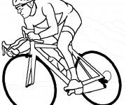 Coloriage et dessins gratuit Cyclisme maternelle à imprimer