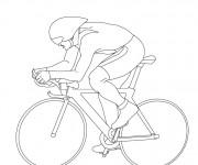 Coloriage et dessins gratuit Cyclisme stylisé à imprimer