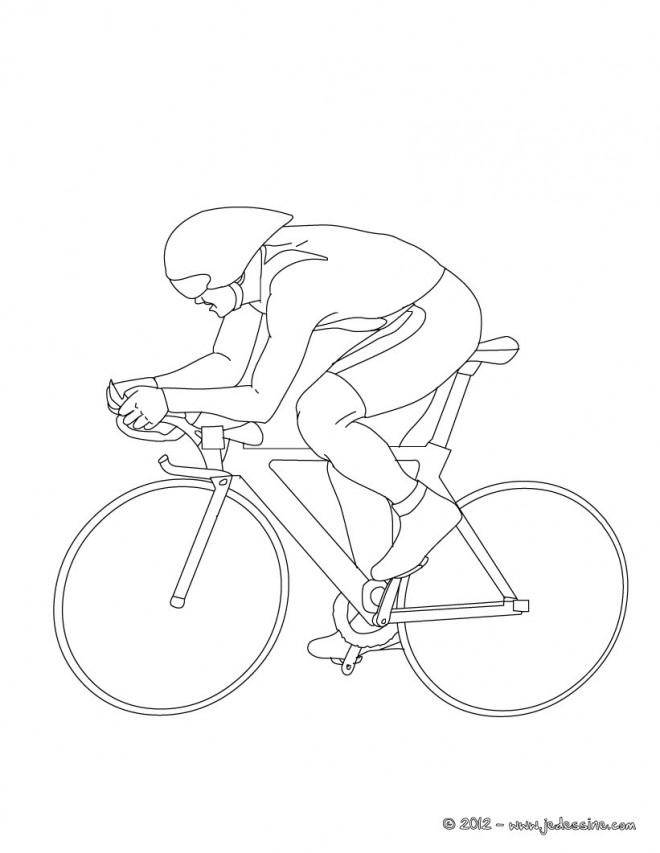 Coloriage et dessins gratuits Cyclisme stylisé à imprimer