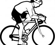 Coloriage et dessins gratuit Cyclisme vecteur à imprimer