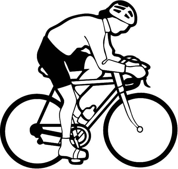 Coloriage et dessins gratuits Cyclisme vecteur à imprimer