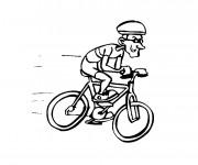 Coloriage Cycliste et son Vélo rapide