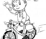 Coloriage et dessins gratuit Cycliste mignon dessin animé à imprimer