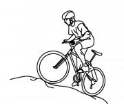 Coloriage et dessins gratuit Cycliste montant à imprimer