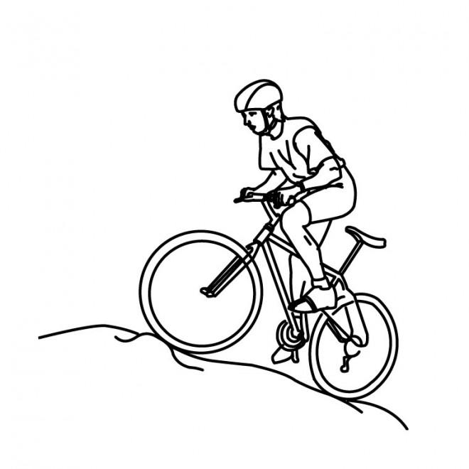 Coloriage et dessins gratuits Cycliste montant à imprimer